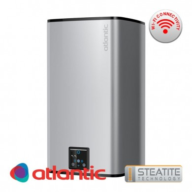 Обемен бойлер Steatite CUBE Silver 75 литра , с Wi-Fi за вертикален монтаж