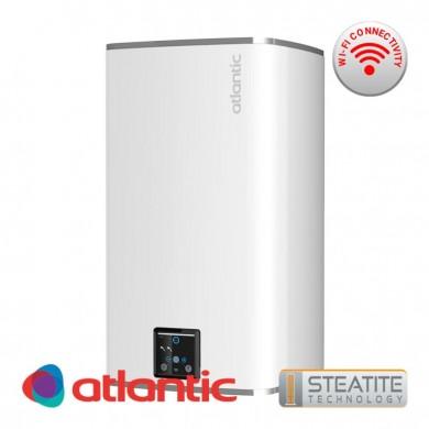 Обемен бойлер Steatite CUBE white 100 литра , с Wi-Fi за вертикален монтаж