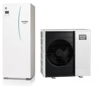 Термопомпа въздух-вода PUHZ-SHW80V/ERSТ20C-VM2D с Вграден бойлер 200л. 8kw