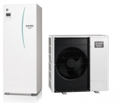 Термопомпа въздух-вода PUHZ-SW75V/ERST20C-VM2D с Вграден бойлер 200л. 5.2kw