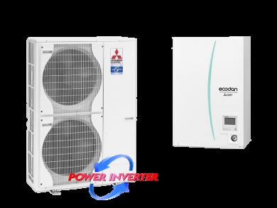 Термопомпа въздух-вода PUHZ-SW120V/YHA/ERSC-MEC-отопление и охлаждане 9.6kw