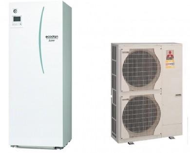 Термопомпа въздух-вода PUHZ-SHW140YHA/ERSТ20C-VM2C-с Вграден бойлер 200л. 14kw